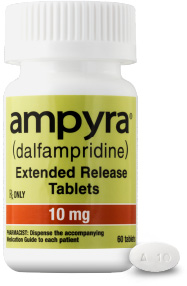 Bottle of AMPYRA® (dalfampridine) 10mg
